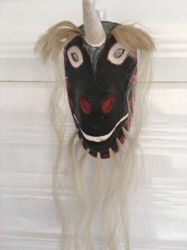 Yaqui Pascola Dance Mask Rodrigo Rodriguez 1999 Unicorn  Unusual