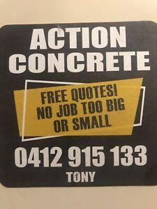Concrete concreting concretor