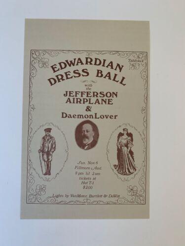 Jefferson Airplane & Daemon Lover 1966 Edwardian Ballroom Concert Handbill