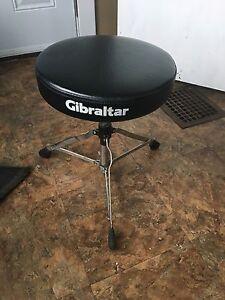Mapex double kick pedal, gig bag and Gibraltar stool