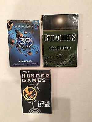 Young Adult Books 3 BOOKS Hunger Games 39 Clues Bleachers John Grisham