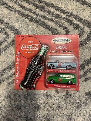 Matchbox 2001 COCA COLA 1950's COKE COLLECTION 57 CHEVY + FJ HOLDEN original pkg