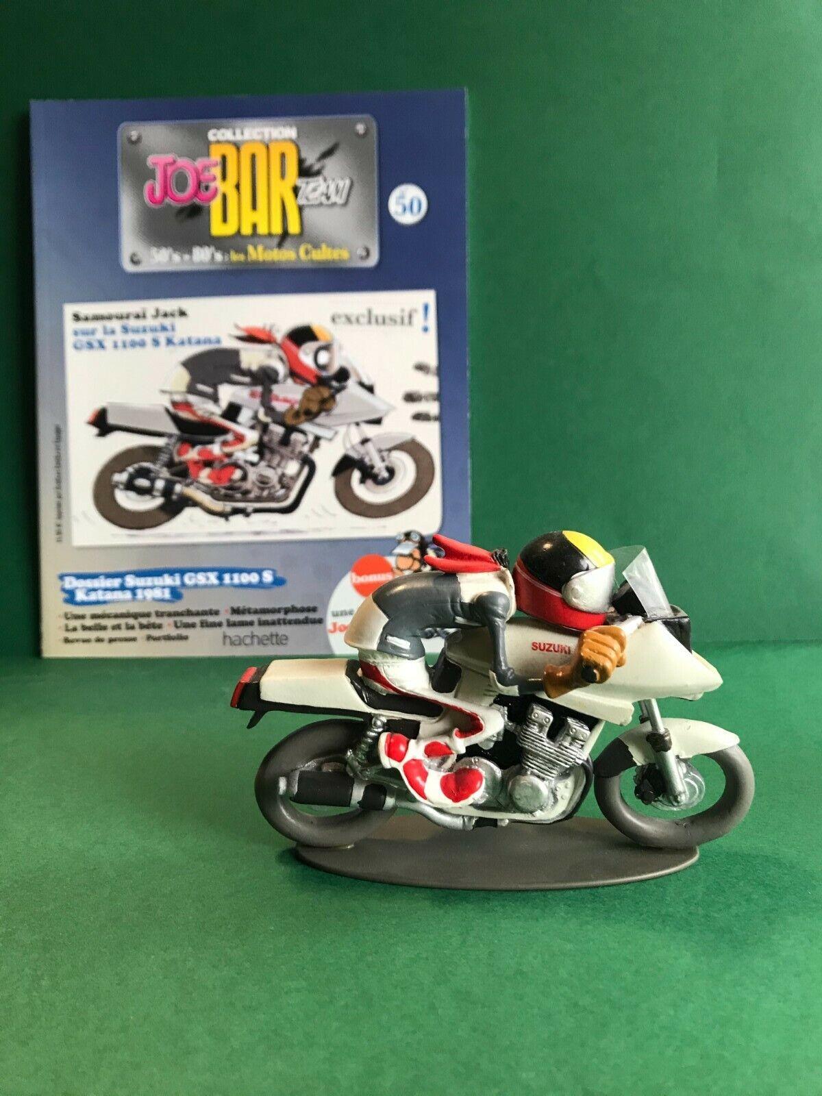 Figurine joe bar team & livret moto suzuki gsx 1100 s katana