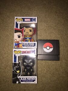 Marvel pop figures +Pokemon portable battery