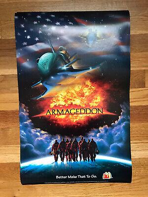 Vintage 1998 McDonald's Armageddon Poster 22 x 14 LOT OF 14!!!