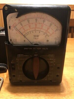 Triplett Model 630 Type 2 Voltage Tester W Manual Probes Case -damageuntested