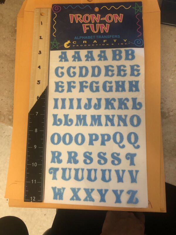 Iron On Fun Alphabet Transfers