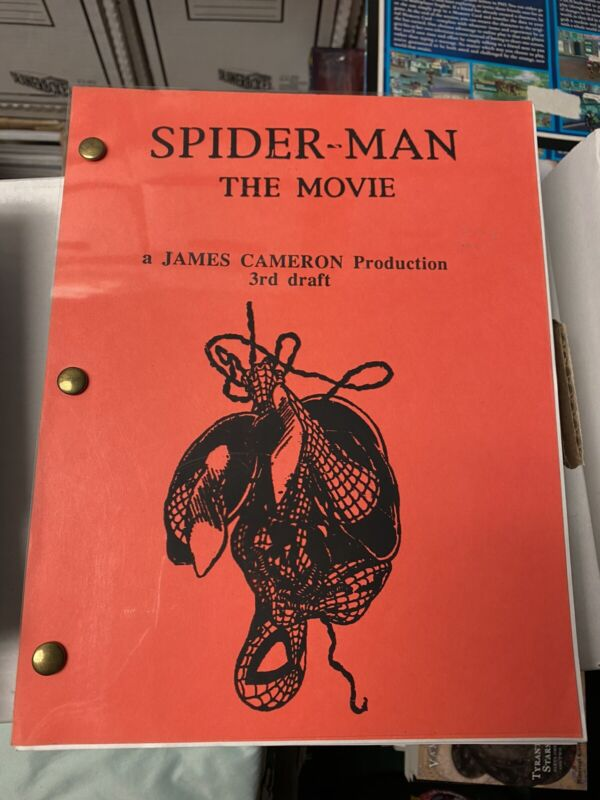 UNRELEASED Spider-man James Cameron 3rd draft Movie Script! SUPER RARE! WOW!