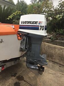 70 hp Evinrude /Johnson outboard electric tilt Batemans Bay Eurobodalla Area Preview