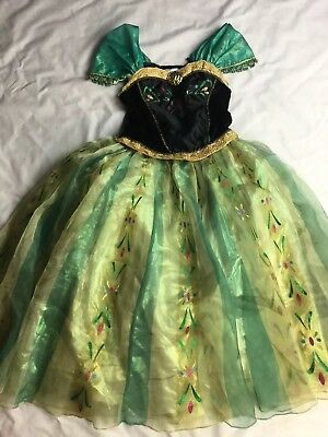 Disney Store Anna Girl 7/8 Frozen Coronation Dress Deluxe Princess Party Costume](Party Costumes Stores)