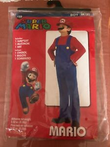 Super Mario HALLOWEEN Costume Boys Medium MINT CONDITION