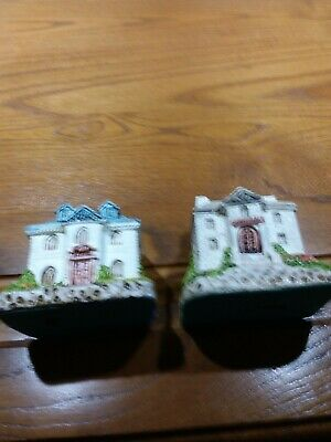 Miniature Village Houses  Bank & City Hall     Taiwan ROC (Lot of 2) for sale  Mount Joy