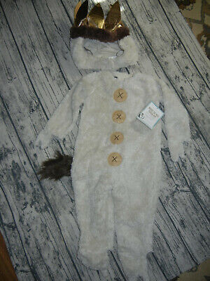 Pottery Barn Kids Where The Wild Things Are Max Halloween Costume 2T NEW