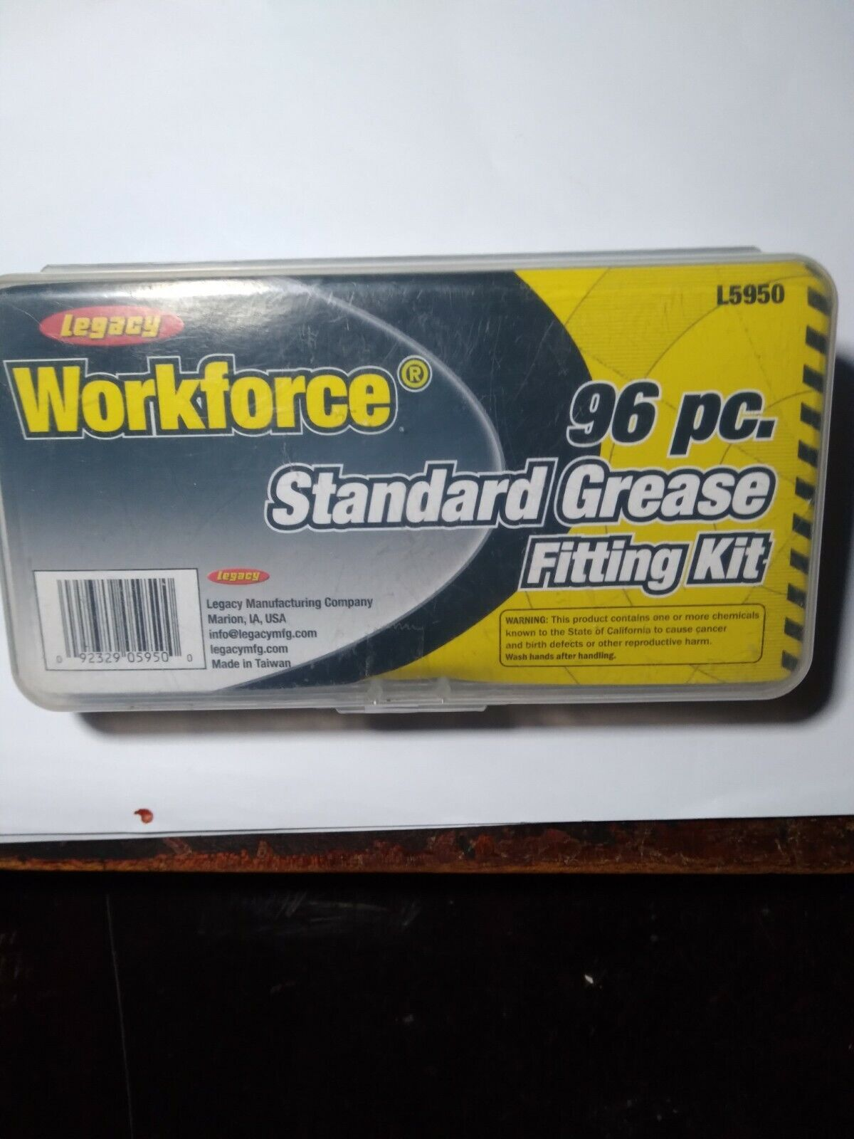 NEW LEGACY WORKFORCE 96PC STANDARD GREASE FITTING KIT L5950