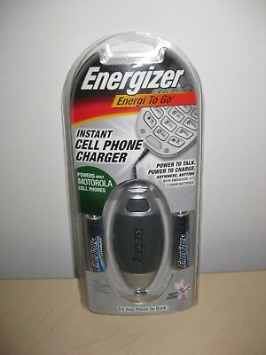 Energizer Energi Go Cell Phone Charger - ENERGIZER ENERGI TO GO INSTANT CELL PHONE CHARGER POWER MOST MOTOROLA NEW SEALED