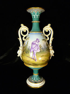 EXQUISITE 18TH CENTURY KPM BERLIN HAND PAINTED PORCELAIN PORTRAIT VASE - C 1770