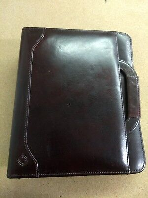 Franklin Quest Covey Black Canvas Brown Leather Trim Classic Planner 7-ring