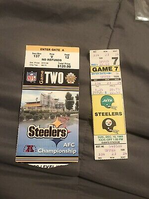 LOT OF 2 TICKET STUBS 2004 NEW ENGLAND PATRIOTS TOM BRADY PITTSBURGH STEELERS 89