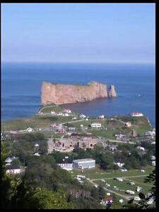 Percé, Gaspésie, Roulotte à louer