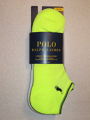 POLO Ralph Lauren Mens Technical Sport Socks NWT 3 Pairs / (Technical Sports Socks)