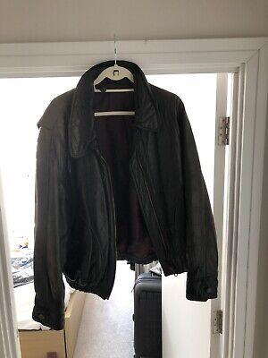 Men's Hugo boss brown leather jacket