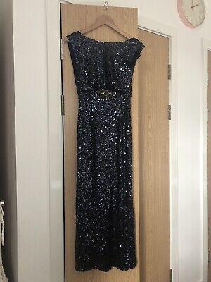No 1 By Jenny Packham Navy Sequin Dress Size 8
