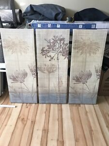 """11.5 """" x 29.5"""" set of three stretched canvas prints"""