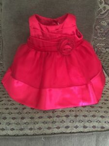 0-3 months red baby dress