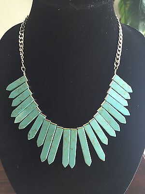 Bib Silver Tone Necklace - Baublebar Mint Marble RA Bib Necklace Silver Tone 18