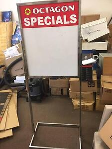 Whiteboard Sign Stand, Whiteboard, Wire Basket, Wire Hanging Sys. Alexandria Inner Sydney Preview