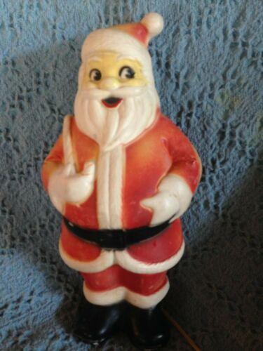"VINTAGE CHRISTMAS 1965 LIDCO 13 1/2"" SANTA BLOW MOLD W/LIGHT CORD"