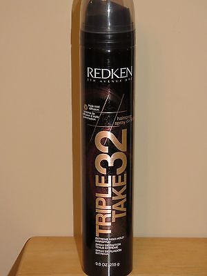 REDKEN TRIPLE TAKE 32 EXTREME HIGH HOLD HAIRSPRAY 11oz BLACK CAN