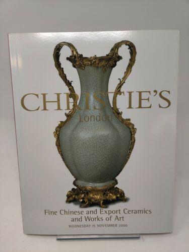 Christies London Fine Chinese Ceramics + Export auction catalog 15 Nov 2000