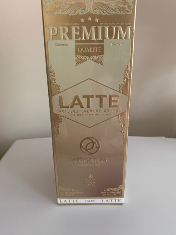 Organo Gold Premium Latte Coffee - 20 Sachets, EXP 2023 or later