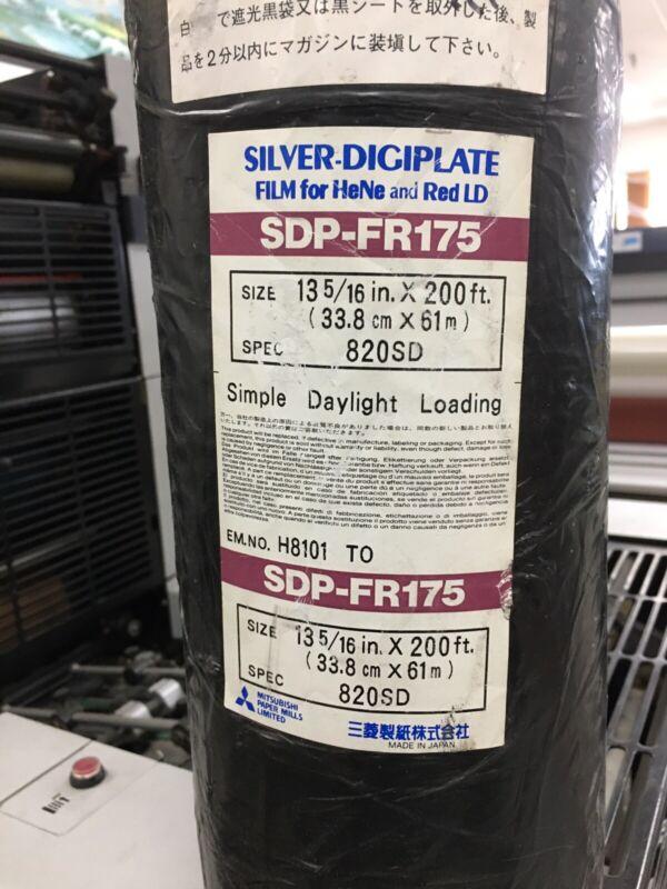 Mitsubishi Silver Digiplate Film HeNe & RedLD SDP-FR175 (13 5/16in.X200ft) 820SD