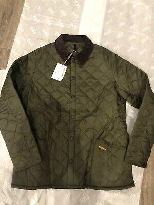 New Barbour Heritage Liddesdale Quilt Jacket Mens XL Olive