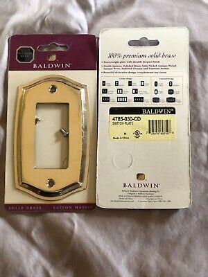One (1) Baldwin Solid Brass Single GFCI Plate Colonial4785-030-CD New Baldwin Single Gfci Solid Brass