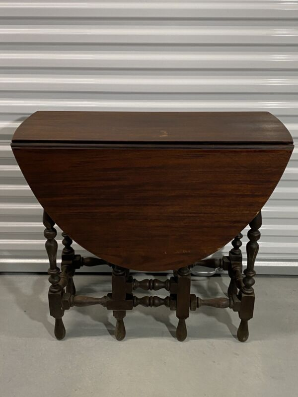 "Antique William & Mary Style Drop Leaf Gateleg Table ""GORGEOUS"""
