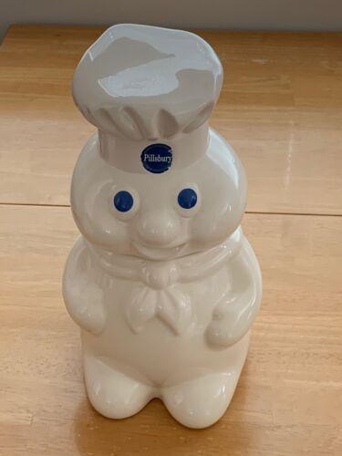"1988 Vintage Pillsbury Doughboy Cookie Jar 12"" Canister - Benjamin & Medwin Inc"