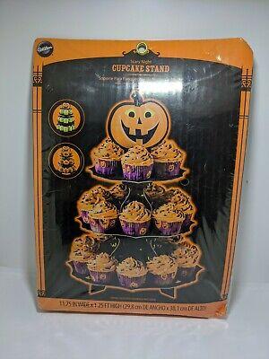 Wilton Cupcake Stand Halloween Scary Night 3 Tier Holds 24 Cupcakes NIP BR3