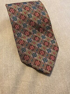 Vintage Authentic Missoni Men's Tie Made In Italy Multi-colored 100% Silk