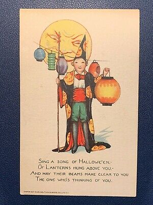 A Halloween Songs (1910s Tuck & Sons Halloween Postcard - Sing a Song of Halloween -)
