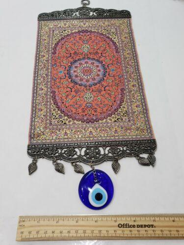 Wall Hanging Woven Anatolian Carpet Wall Evil Eye Perfect Gift  - $19.65