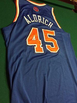 224a1708670 2013-14 Cole Aldrich New York Knicks Game Worn Jersey -4 11 2014 - STEINER  COA
