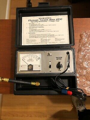 Vintage Ritchie Yellow Jacket Electronic Vacuum Meter 69040