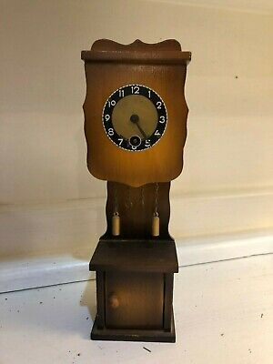 German Cuckoo Clock Mfg Co Pendulum Grandfather Mini Hand Carved Painted Wind up