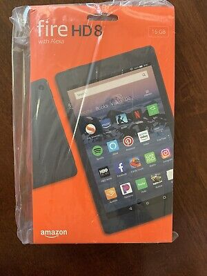 Amazon Kindle Fire HD 8 Tablet 16gb 8-inch 8th Generation Alexa NEW SEALED