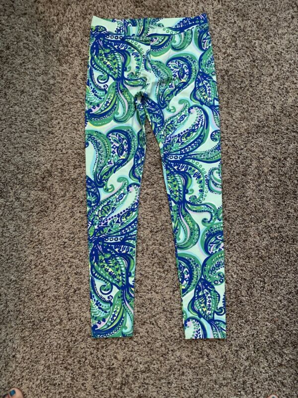 Lilly Pulitzer Leggings Blue Green Yellow Purple Sz.12/14 XL