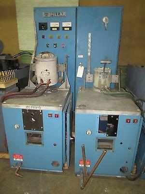 Pillar Induction Melter Melting Machine 15kw With 2 Tilt Pour Pots - Nice
