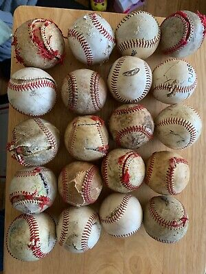 LOT OF 20 BAD POOR TERRIBLE CONDITION USED BASEBALLS ⚾️ PERFECT FOR ART PROJECTS